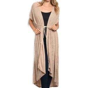 Long Cardigan Sweater Duster Coat Knit NEW Large